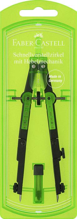Compas con mecanismo de palanca verde