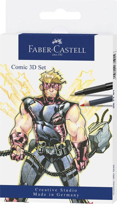 Set faber castel comic 3d
