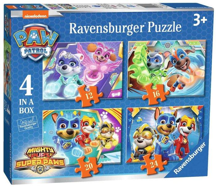Puzzle 4 en 1 patrulla canina+