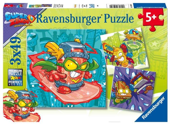 Puzzle superzings 3 unid de 49 piezas