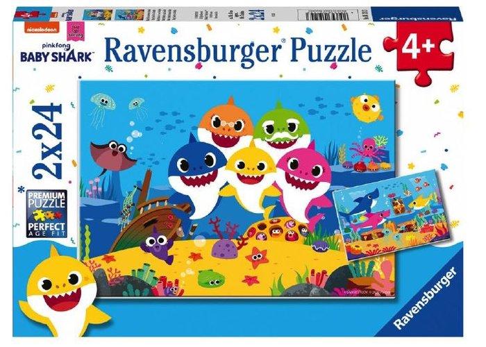 Puzzle baby shark 2 unid de 24 piezas
