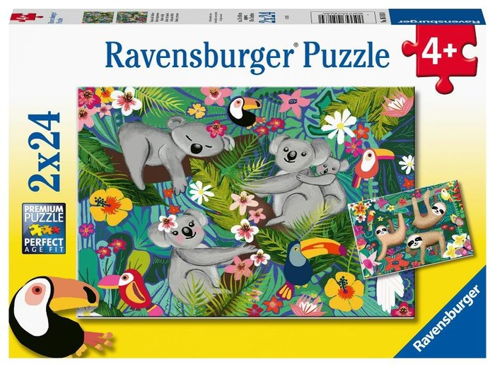 Puzzle koalas y perezosos 2 puzzles 24 pz