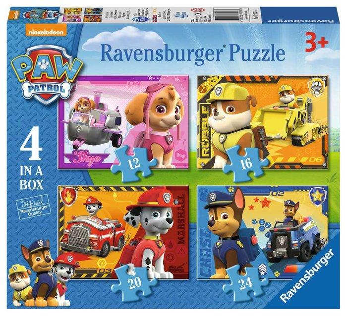 Puzzle 4 en 1 patrulla canina