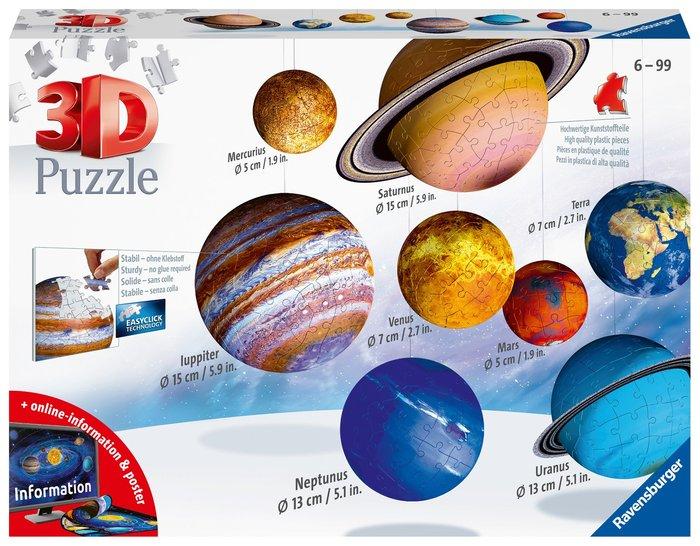 Puzzle 3d sistema planetario round shaped 11668