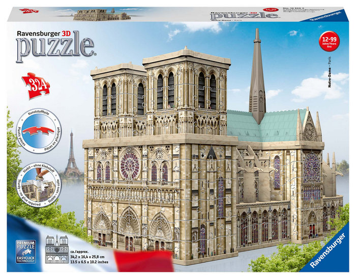 Puzzle 3d notre dame building maxi ravensburger 12523