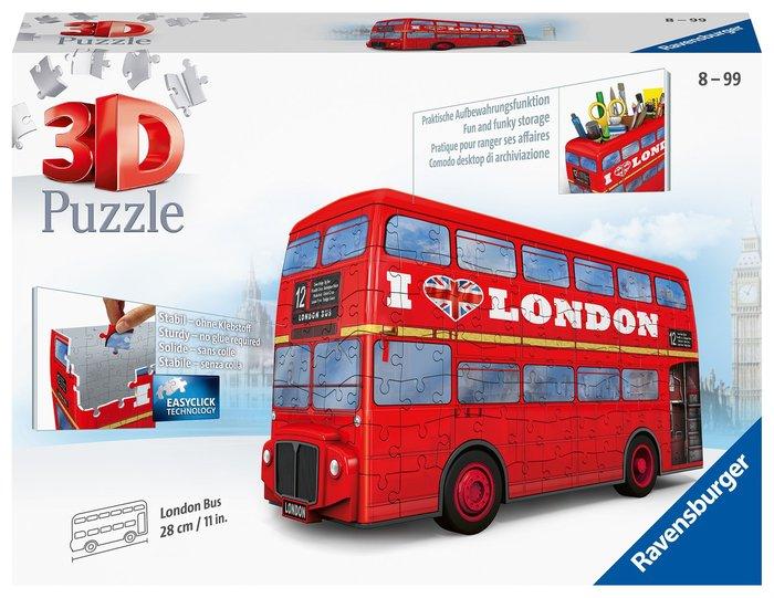 Puzzle london bus 3d
