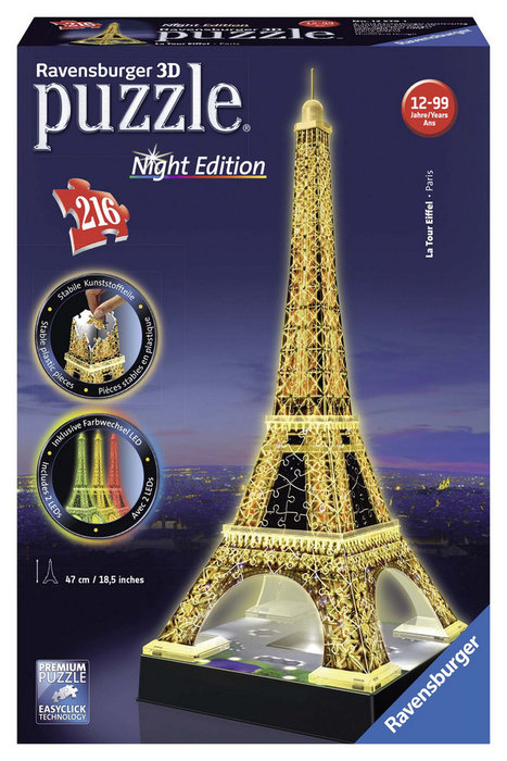 Puzzle 3d torre eiffel night edition 12579
