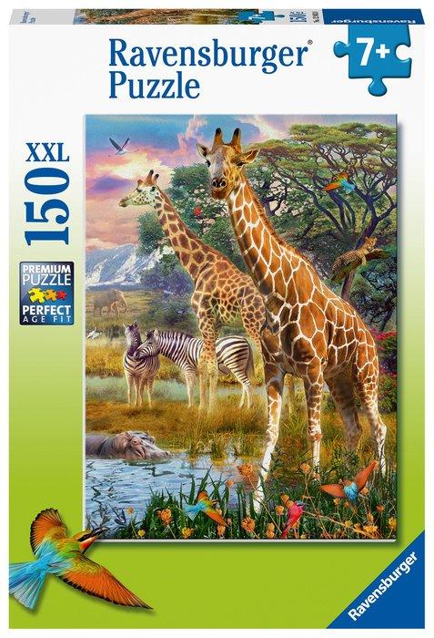 Puzzle xxl jirafas en africa 150 pz