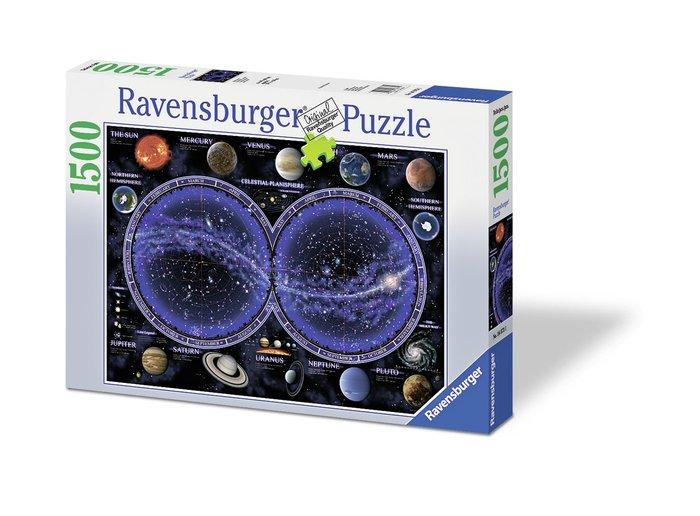 Puzzle planisfero celeste  1500 p