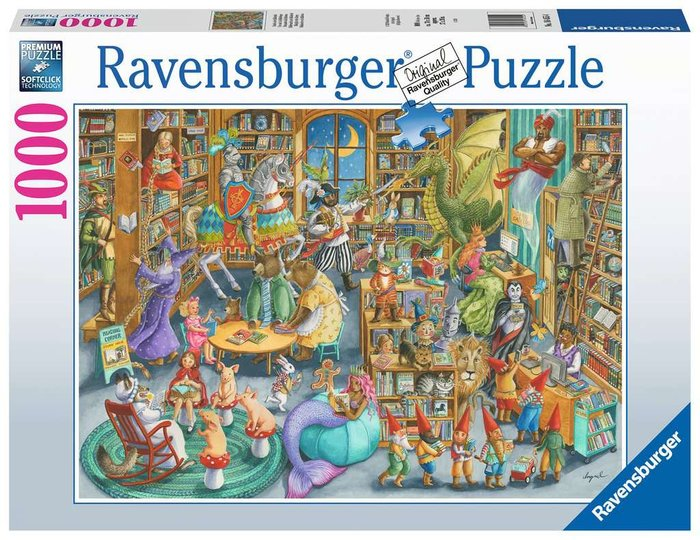 Puzzle 1000 p medianoche en biblioteca