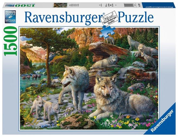 Puzzle 1500 pz lobos en primavera