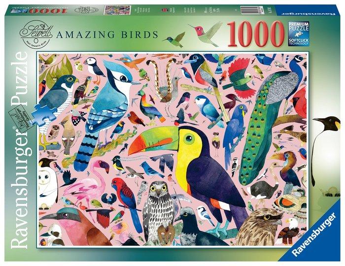 Puzzle 1000 pz pajaros increibles