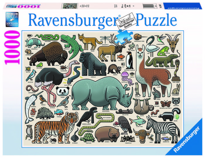 Puzzle 1000 pz animales salvajes
