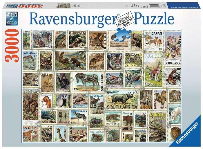Puzzle 3000 p sellos de los animales