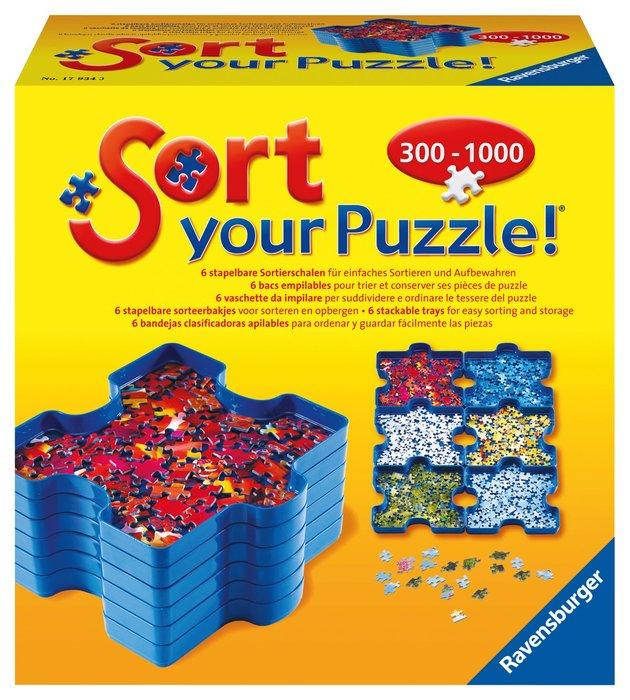 Bandejas organizadoras puzzle sort & go set 6 unid