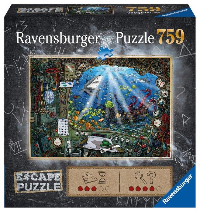 Puzzle escape the room 759p submarino