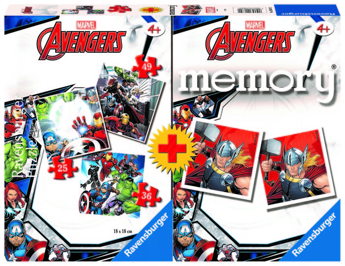 Multipack memory avengers  +3puzzles