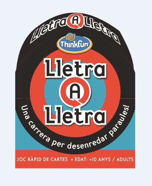 Juego de cartas letra a letra - catalan