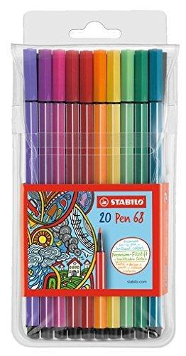 Rotulador stabilo premium pen 68 20 colores surtidos