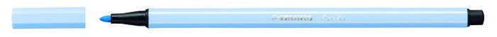 Rotulador stabilo premium pen 68 azul hielo