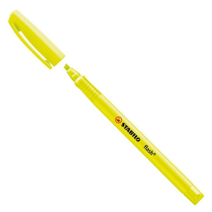 Marcador fluorescente stabilo flash amarillo