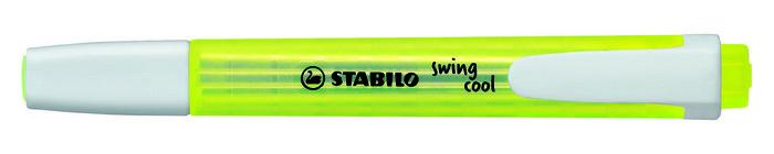 Marcador fluorescente stabilo swing cool amarillo