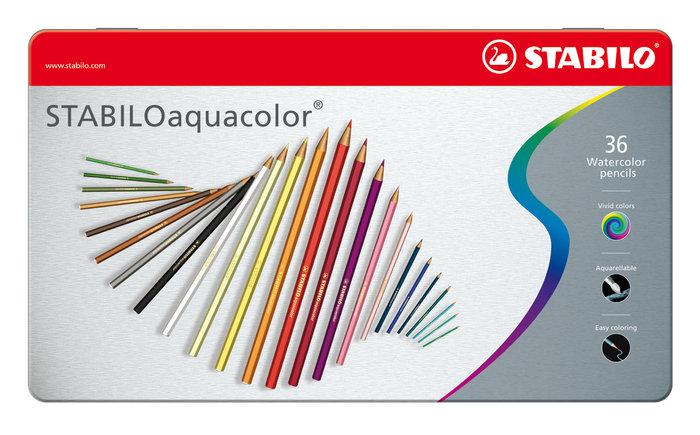 Lapiz stabilo aquacolor metal 36 ud surtidos