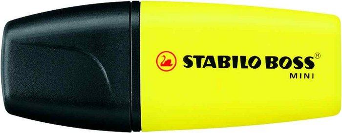 Marcador fluorescente stabilo boss mini amarillo