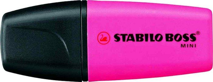 Marcador fluorescente stabilo boss mini rosa