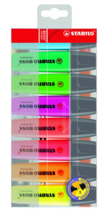 Marcador fluorescente stabilo boss original blister 8 uds