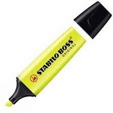 Marcador stabilo boss original amarillo