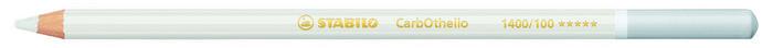 Lapiz stabilo original premium carbothello blanco titanio