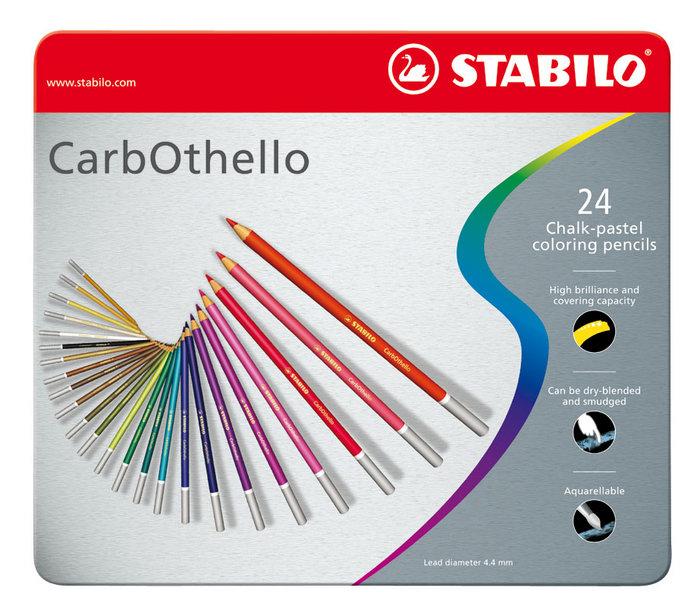 Lapiz stabilo original premium carbothello metal 24 ud surti