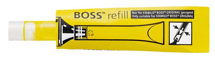 Marcador fluorescente recarga stabilo boss amarillo