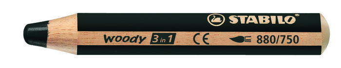 Lapiz stabilo woody 3 en 1 negro