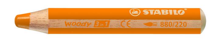 Lapiz stabilo woody 3 en 1 naranja