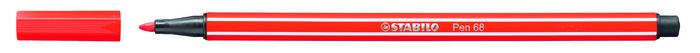 Rotulador stabilo premium pen 68 rojo