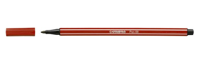 Rotulador stabilo pen 68 rojo oscuro