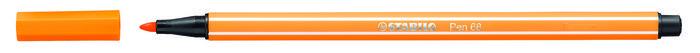 Rotulador stabilo premium pen 68 naranja
