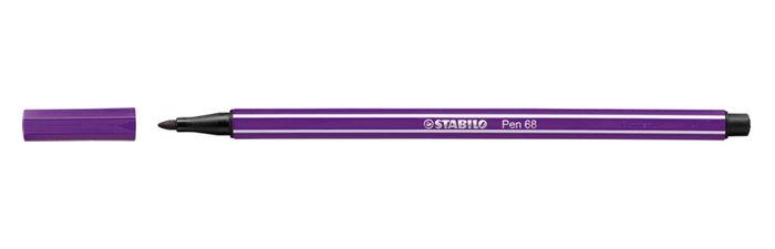 Rotulador stabilo pen 68 lila