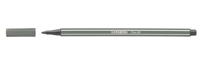 Rotulador stabilo pen 68 gris oscuro