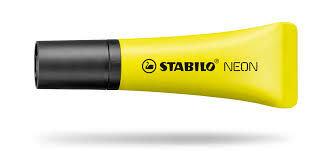 Marcador stabilo neon amarillo