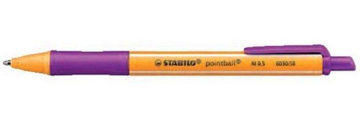 Boligrafo stabilo pointball lila