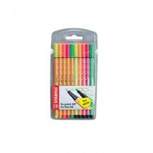 Rotulador stabilo point pen fluorescente blister 10 unid