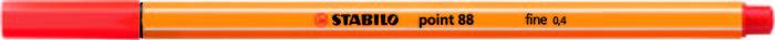 Rotulador stabilo point 88 carmin