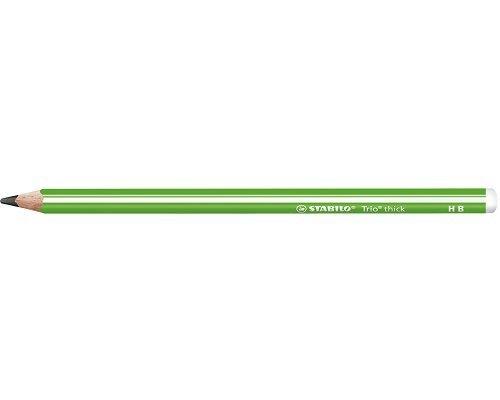 Lapiz grafito escolar stabilo trio thick lapiz verde