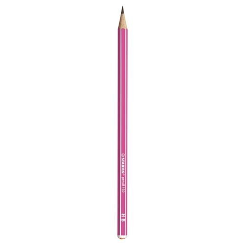 Lapiz grafito escolar stabilo pencil 160 hb rosa