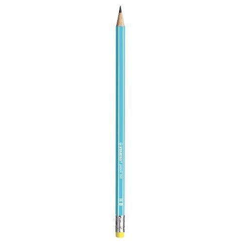 Lapiz grafito escolar stabilo pencil 160 hb azul goma