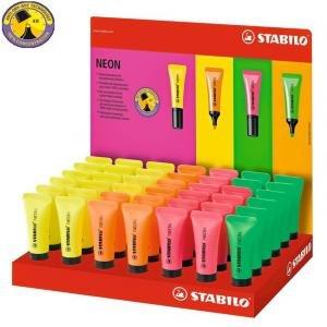 Expositor marcador stabilo fluorescente neon 42 unidades