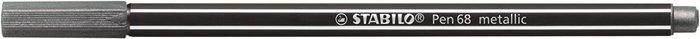 Rotulador stabilo pen 68 metallic plata